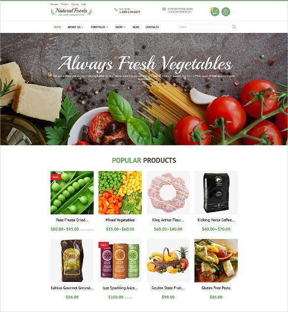 fresh vegetable business woocommerce bootstrap theme