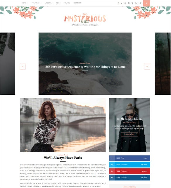 the mysterious girl responsive html5 website template