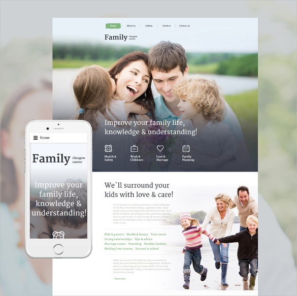 family centre responsive html5 template