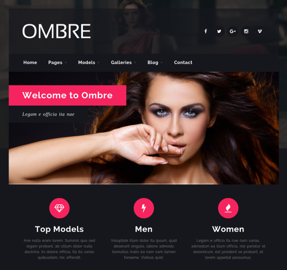 model agency fashion responsive html5 template
