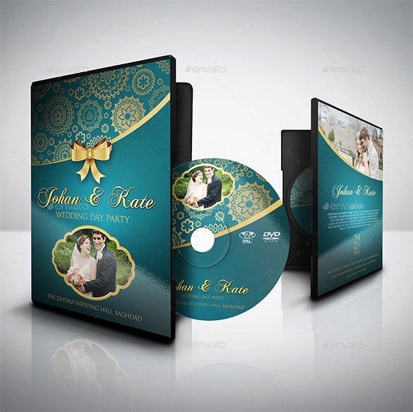 download wedding dvd cover template psd design