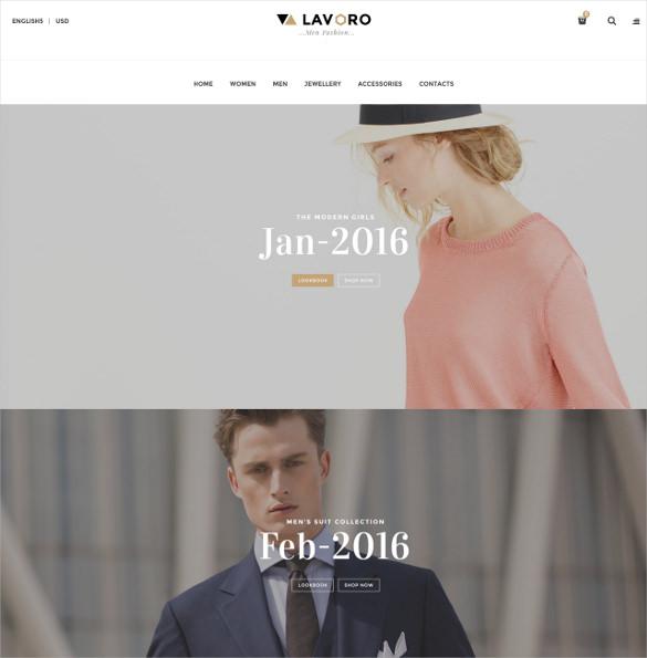 fashion shop responsive magento theme