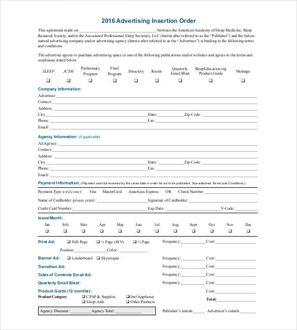order template  u2013 20  free word  excel  pdf documents
