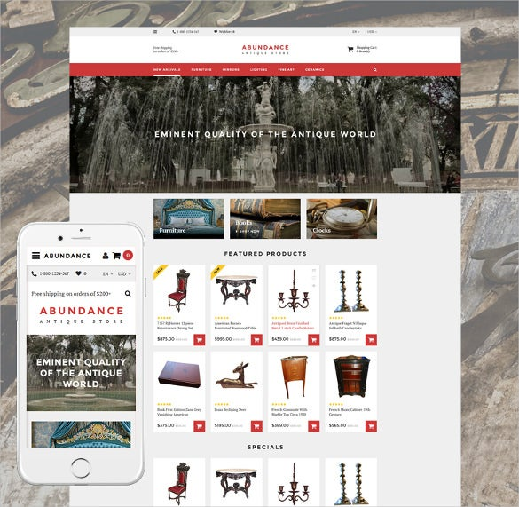 abundance responsive opencart template