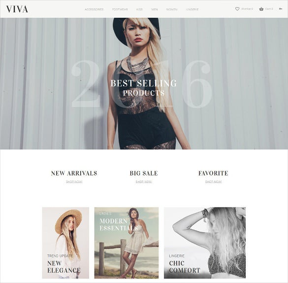 viva responsive clothing opencart template