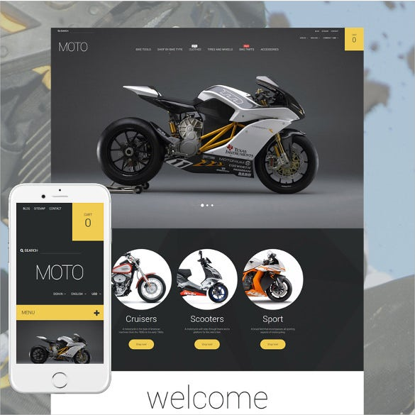 bike shop responsive prestashop theme