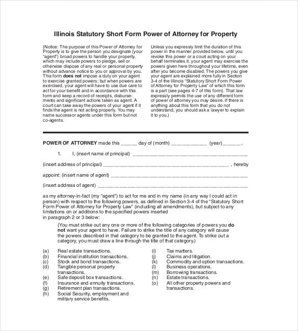sample power of attorney for property pdf download
