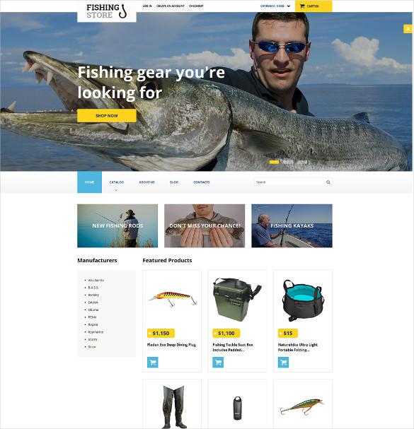 fishing responsive virtuemart template