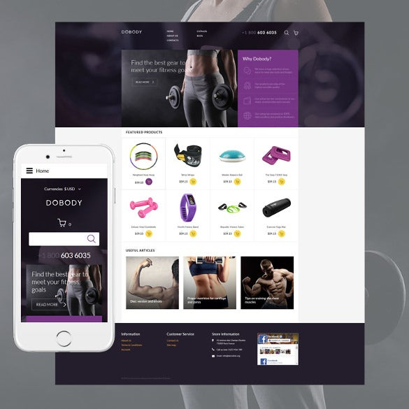 dobody responsive fitness virtuemart template