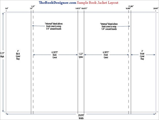 free download book jacket layout template