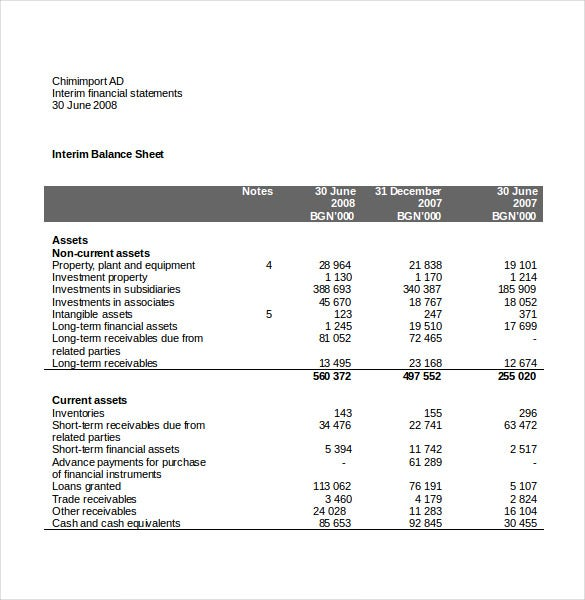 basic income statement word format download
