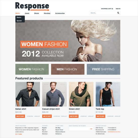 responsive magento php theme