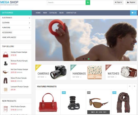megashop responsive shopify php theme