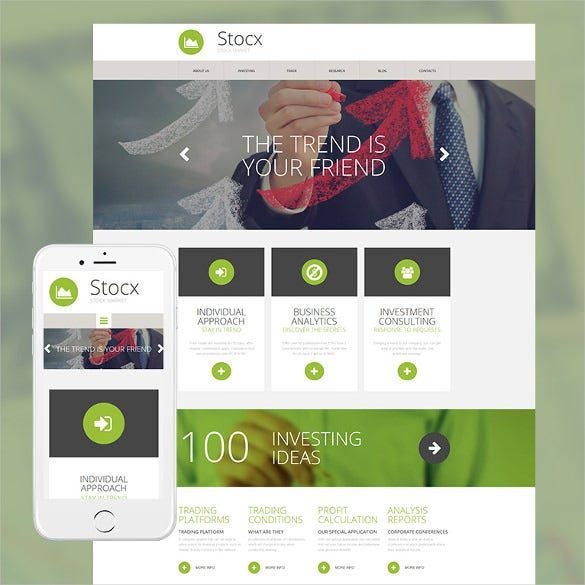 investment company responsive moto cms 3 php template