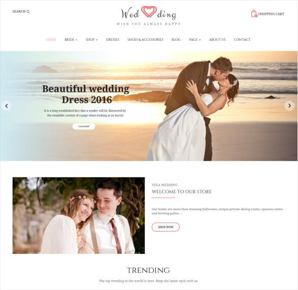 wedding responsive prestashop php theme