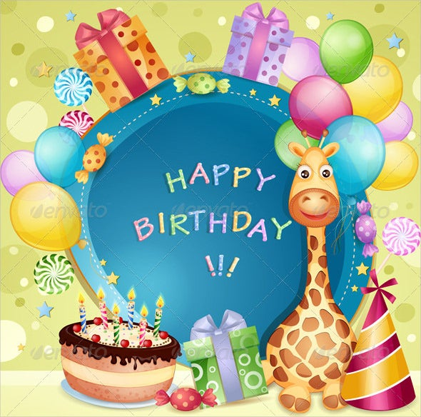 Happy Birthday Card Template. Download  Happy Birthday Card Template Free Download