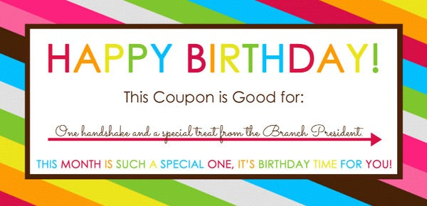 Colourful Birthday Coupon Template To Print  Coupon Word Template