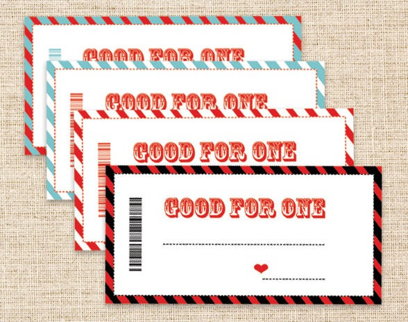 last minute birthday gift coupon template