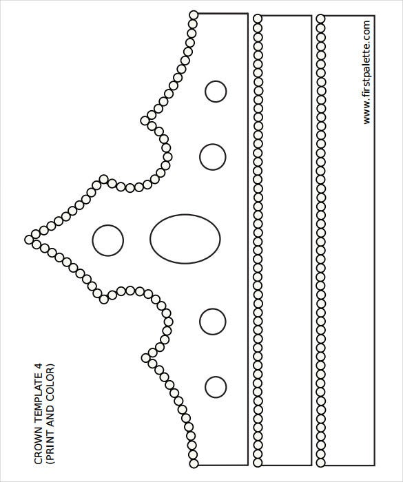 elegant crown template colouring pdf format