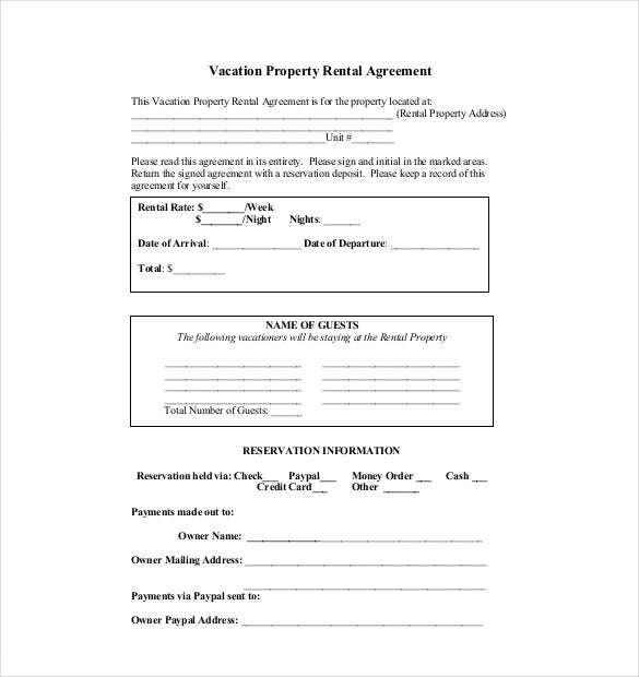 Rental Agreement Template   Free Word Excel Pdf Documents