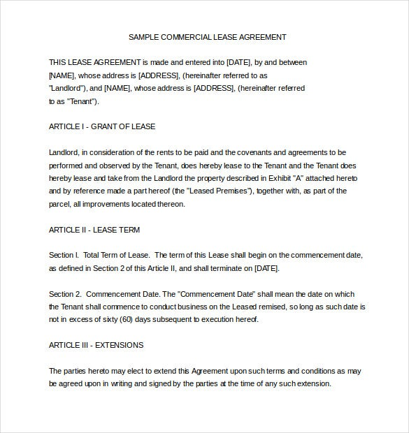 Rental Agreement Template  Template