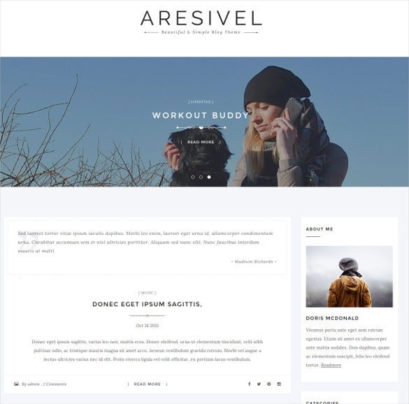 aresivel a responsive drupal blog theme