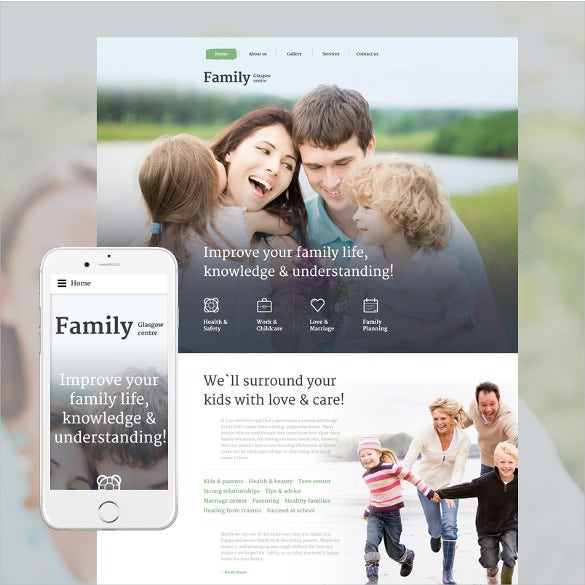 family centre website html5 template