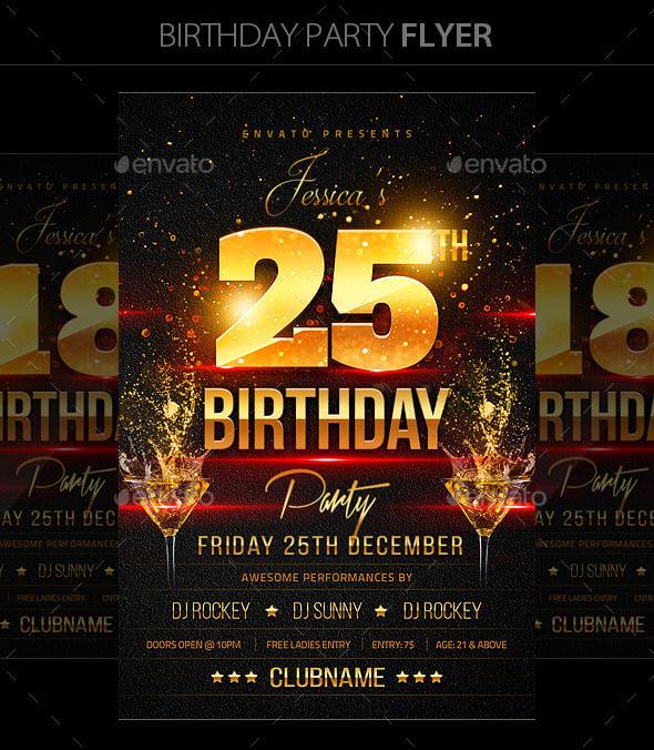 17 Birthday Templates Free Psd Eps Word Pdf