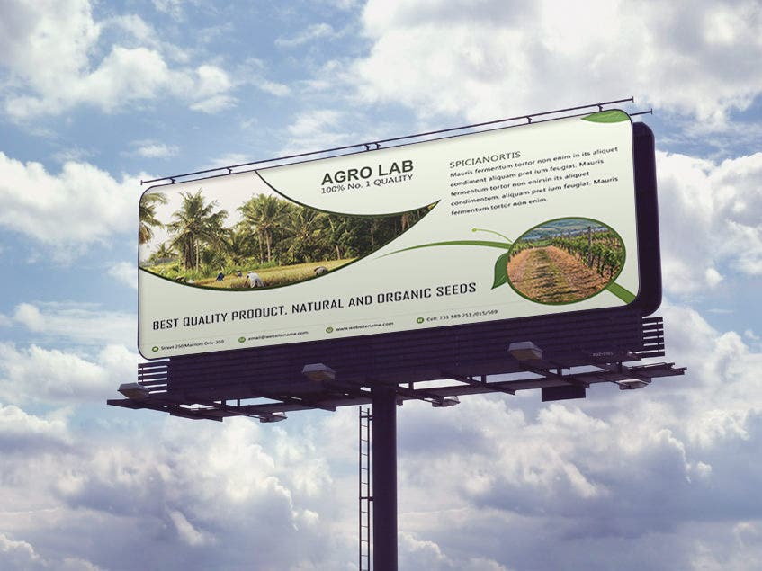 Agriculture Billboard Mockup Template