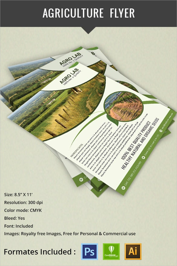 simple green agriculture flyer template