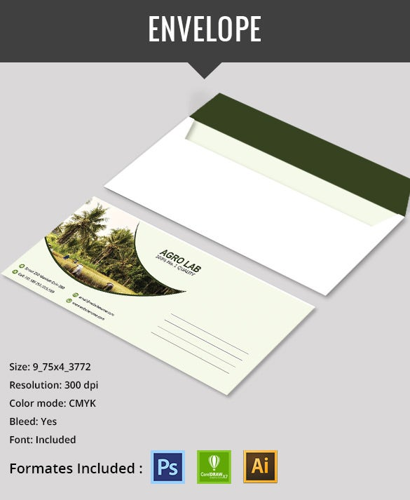 well crafted agriculture envelope template