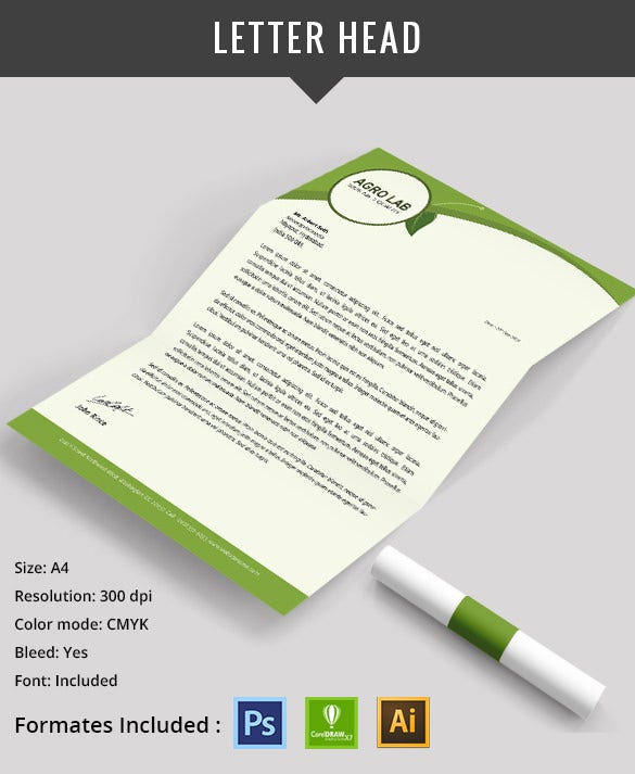 Agriculture Letter Head Design PSD Download