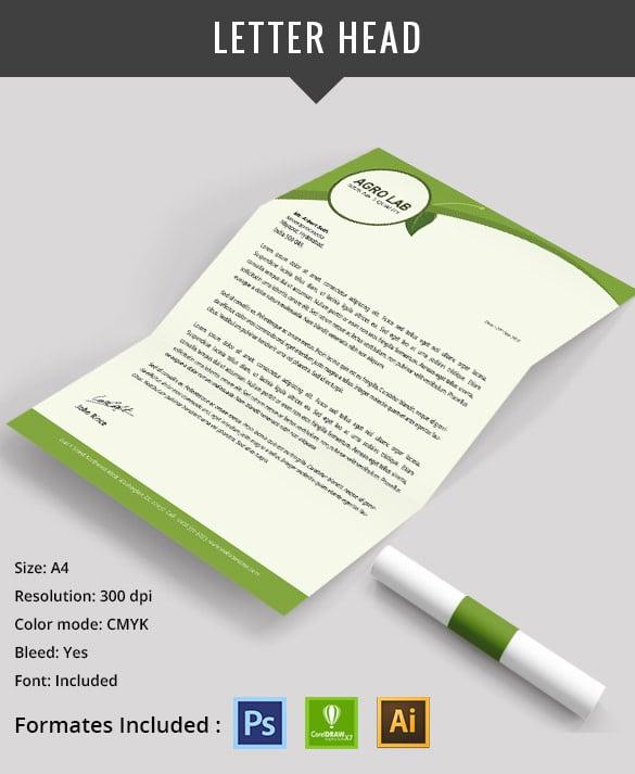agriculture letter head design psd download