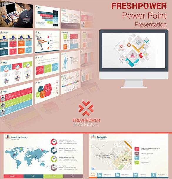 freshpower project timeline template presentation download