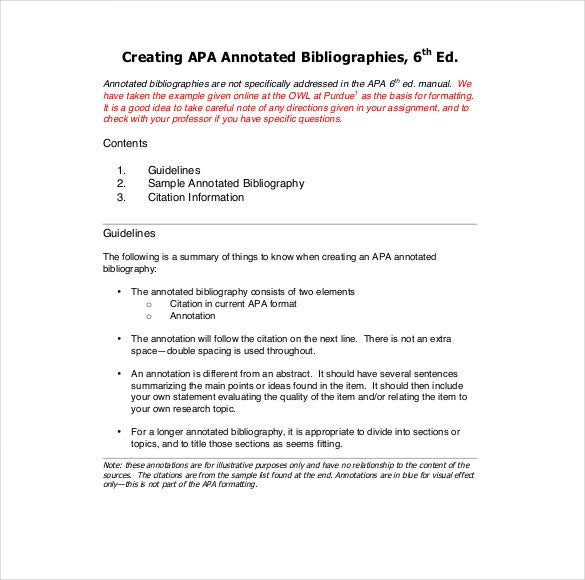 annotated bibliography template pdf