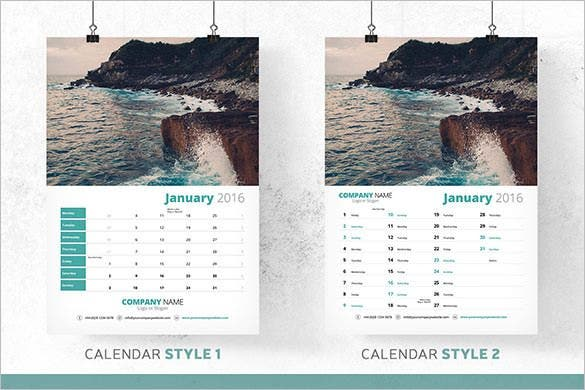 6 calendar bundle 2016 template jpeg format1