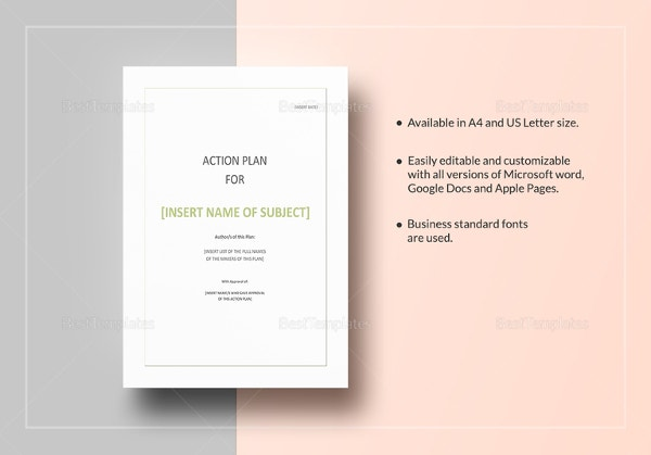 Action Plan Template In Word  Microsoft Word Action Plan Template