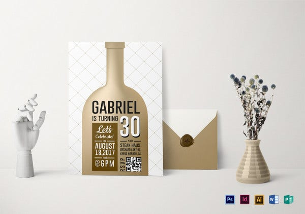 adult birthday party invitation template1