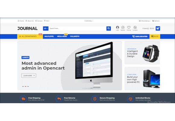advanced journal opencart theme