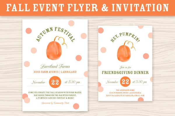 autumn event invitation