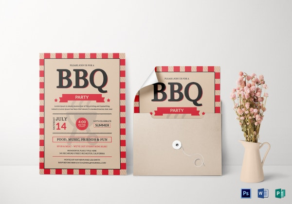 bbq party invitation card templates