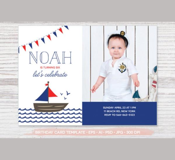 birthday photo card template