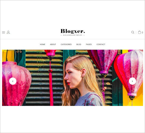 blog magazine bootstrap 4 template