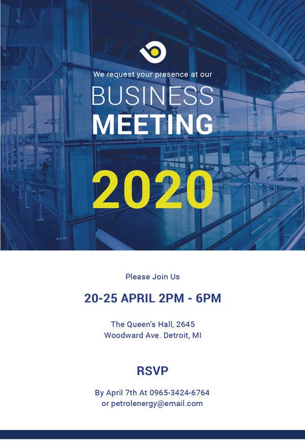 19 meeting invitation templates free sample example format business meeting invitation template stopboris Images