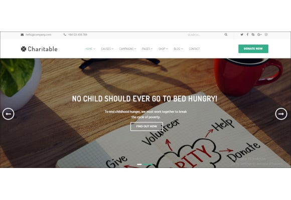 charity nonprofit organization wordpress theme