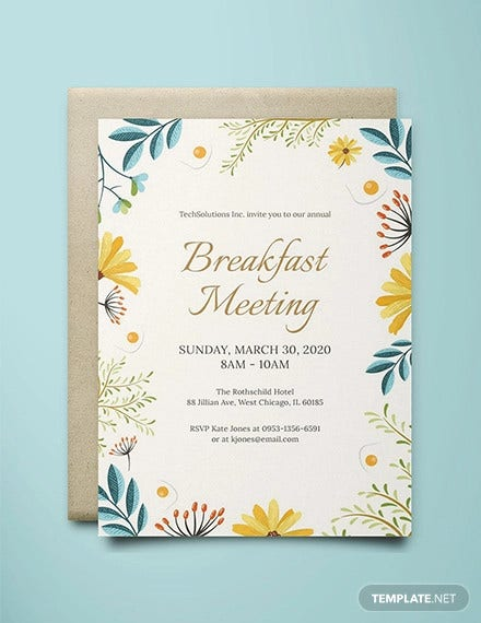 corporate breakfast meeting invitation template1
