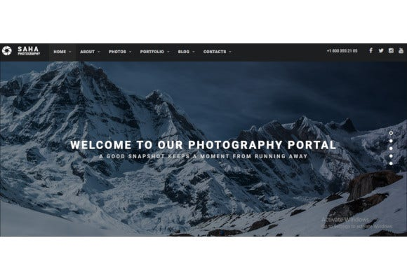 creative photography portfolio drupal theme