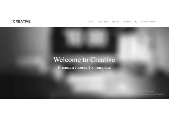 creative responsive joomla template