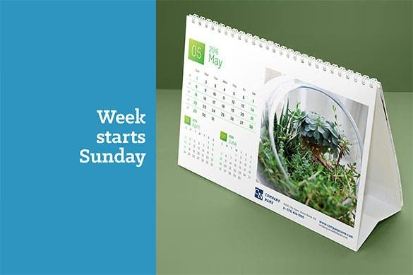 desk calendar 2016 eps vector format download1