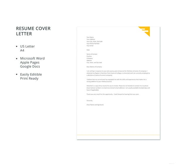 17  resume cover letter templates  u2013 free sample  example